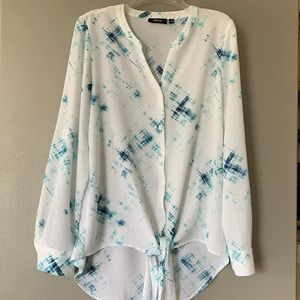 APT.9 Blouse Top Long Sleeve S Size Buttoned White